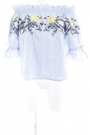 Carmen Blouse flower pattern romantic style
