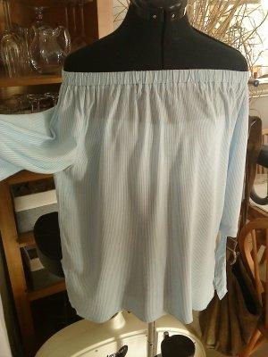 Blind Date Carmen blouse azuur-wit Viscose