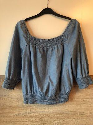 Carmen-Bluse in Jeansoptik von H&M
