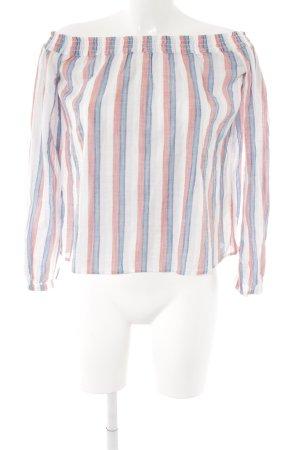 Carmen blouse gestreept patroon casual uitstraling
