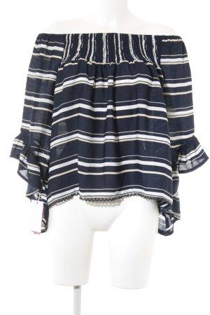 Carmen Blouse striped pattern elegant