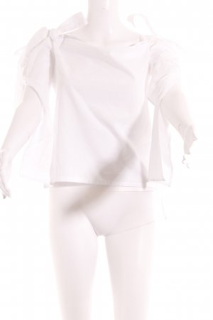 Carmen-Bluse weiß schlichter Stil