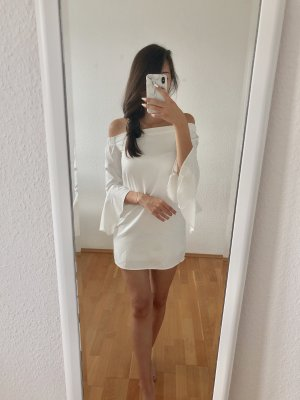 Missguided Flounce Dress white