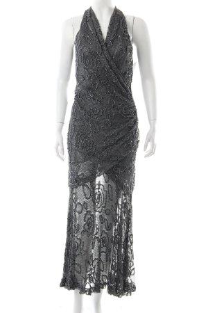 Carmen Marc Valvo Pailettenkleid schwarz-silberfarben extravaganter Stil