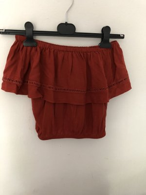 New Look Carmen shirt donker oranje