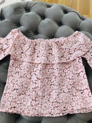 Zara Camisa tipo Carmen color rosa dorado