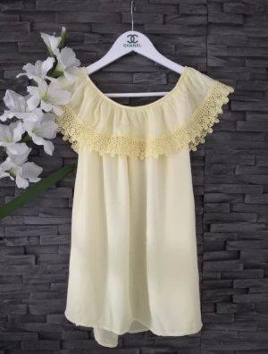 new collection Carmen shirt geel