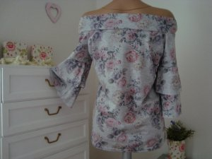 **Carmen Shirt mit 3/4 Arm * Flowers -New Romantic Style**
