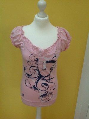 Carmen Shirt Rosa / Dunkelblau Gr. 36