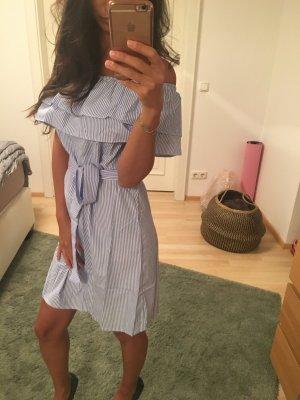 Carmen Striped Dress, blau weiß, Gr M, L