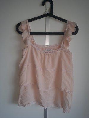 Amisu Carmen shirt stoffig roze-rosé