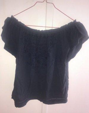 Hollister Carmen Shirt dark blue