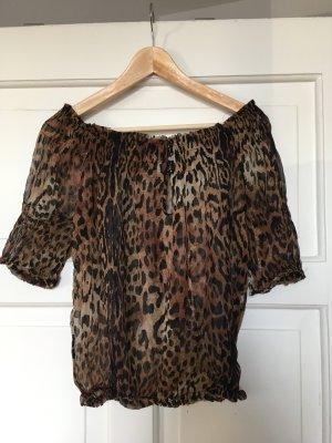 Zara Basic Carmen blouse veelkleurig