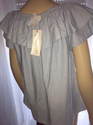 Sienna Carmen blouse azuur