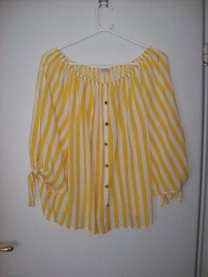 Carmenbluse gelb-weiß von Orsay