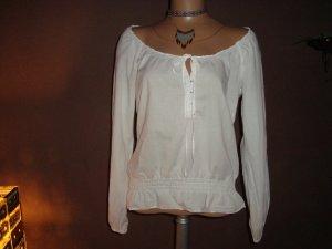 Carmenbluse von Esprit, Weiße Bluse Carmen Ausschnitt, Bloggerstyle, Gr.36