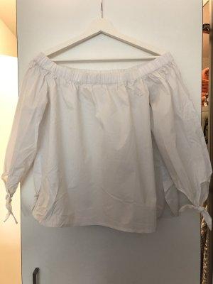 Amisu Blouse Carmen blanc
