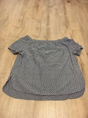 Canda Carmen Shirt white-cornflower blue
