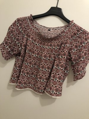 H&M Cropped Shirt multicolored