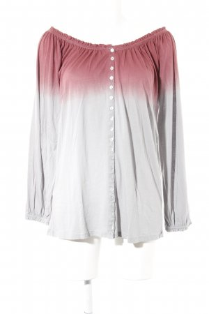 Carmen Shirt bordeaux-light grey color gradient casual look