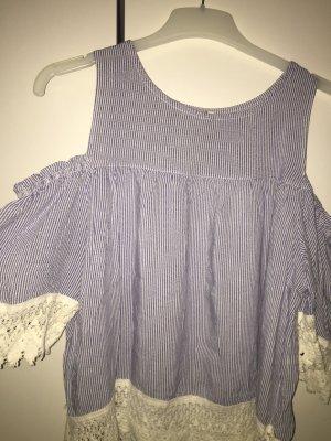 Carmen Shirt cornflower blue-white