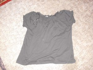Camisa tipo Carmen negro Algodón