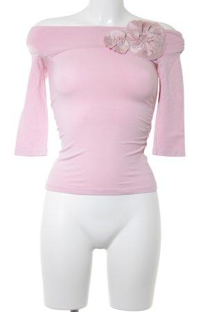Camicetta alla carmen rosa chiaro stile romantico