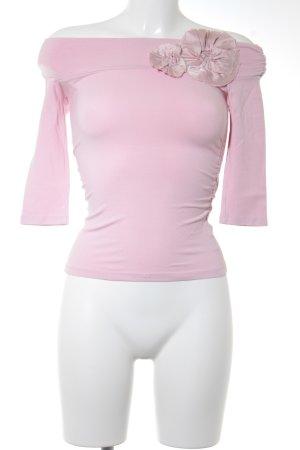 Top épaules dénudées rose clair style romantique
