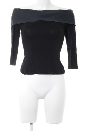 Top épaules dénudées noir-gris foncé style décontracté