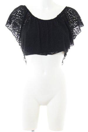 Carmen shirt zwart Geweldige look