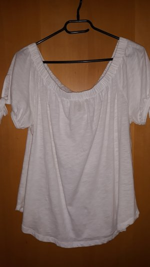 H&M L.O.G.G. Carmen Shirt white cotton