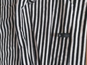 Carmen shirt wit-zwart Katoen