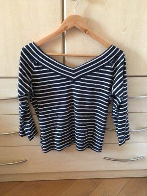 Zara Camisa tipo Carmen blanco-azul