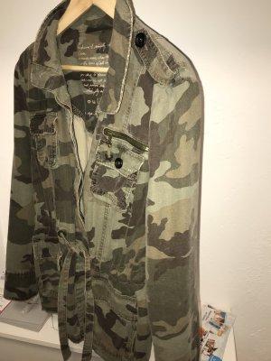 Oui Veste militaire multicolore coton