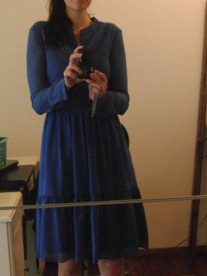 Carolina Cavour Blusenkleid, blau, Gr. S - neuwertig