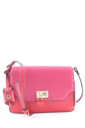 Carpisa Mini sac rouge-magenta blocage de couleur style décontracté