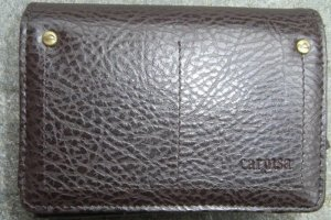 Carpisa Portefeuille brun noir cuir