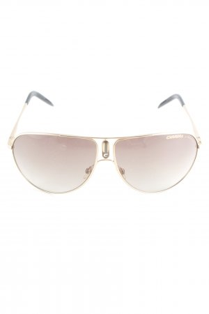 Carrera Pilot Brille goldfarben-camel Casual-Look