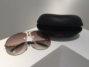 *CARRERA* Piloten Sonnenbrille mit mattgoldenem Rahmen