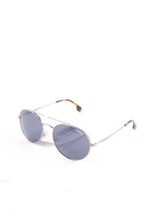 Carrera runde Sonnenbrille graublau-braun Casual-Look