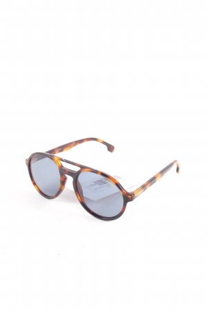 Carrera Round Sunglasses light brown-brown leopard pattern casual look
