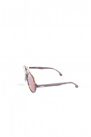 Carrera runde Sonnenbrille schwarzbraun-hellbraun Casual-Look