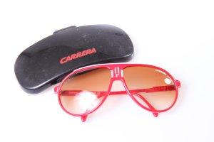 Carrera Gafas de sol rojo ladrillo-blanco