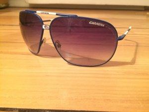Carrera Vintage Sonnenbrille, dunkelblau weiss - Fliegerbrille