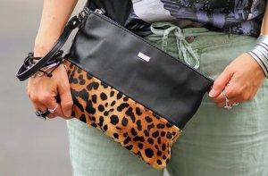 Carrie Wildcat Echt Leder Clutch Abendtasche Handtasche Leopard von Mabba Neu