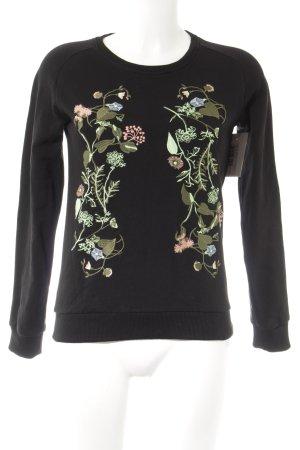 Cars Jeans Sweatshirt florales Muster Stickereiverzierung