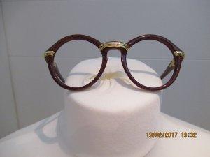 Cartier Gafas marrón-marrón arena tejido mezclado
