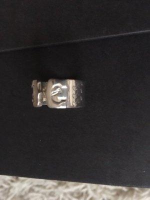 Cartier Doppel C Logo Ring selten denn aus silber Gr 53