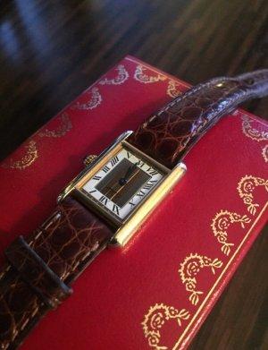 Cartier Gold Uhr Tank Vermeil inkl. Cartier Box