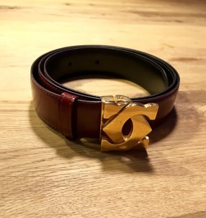 Cartier Leather Belt dark red-bordeaux